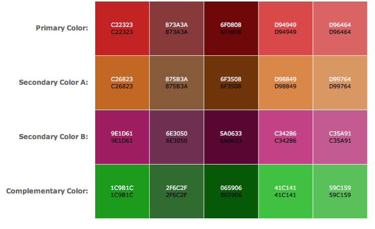 Color Scheme Designer color scheme designer | color for bead artists