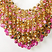 Sparkling Draped Loop Collar (bubblegum glam)