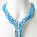Rainforest Cascade Necklace (aqua)
