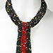 Rainforest Cascade Necklace (black/red)